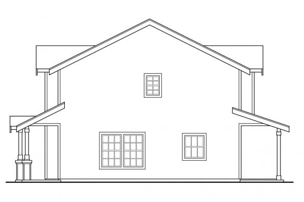 Craftsman House Plan - Rothbury 60-016 - Right Elevation