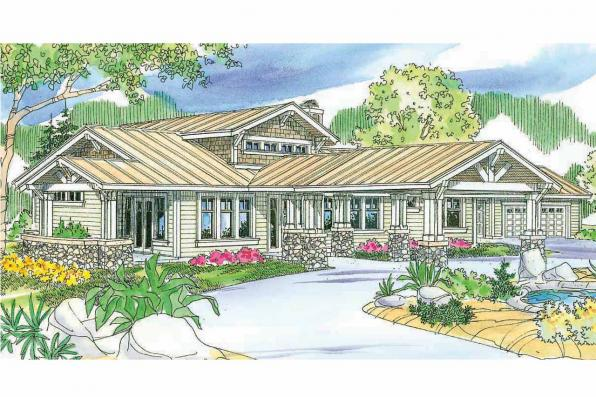 Craftsman House Plan - Springwater 30-661 - Front Elevation