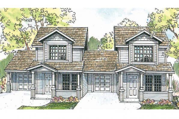 Duplex Plan - Cranbrook 60-009 - Front Elevation