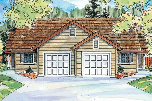 Duplex Plan - Wynant 60-024 - Front Elevation