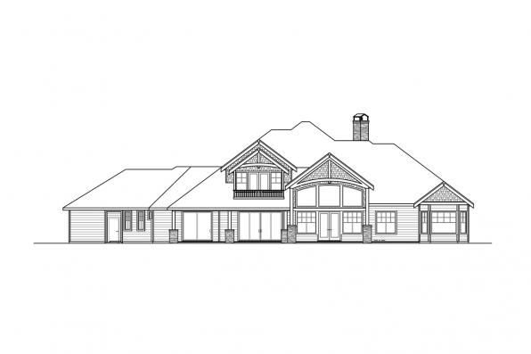 Estate House Plan - Concord 31-144 - Rear Elevation