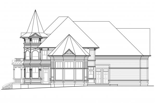 European House Plan - Canterbury 30-516 - Right Elevation