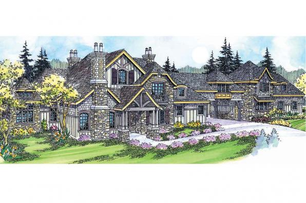 European House Plan - Chesterton 30-649 - Front Elevation