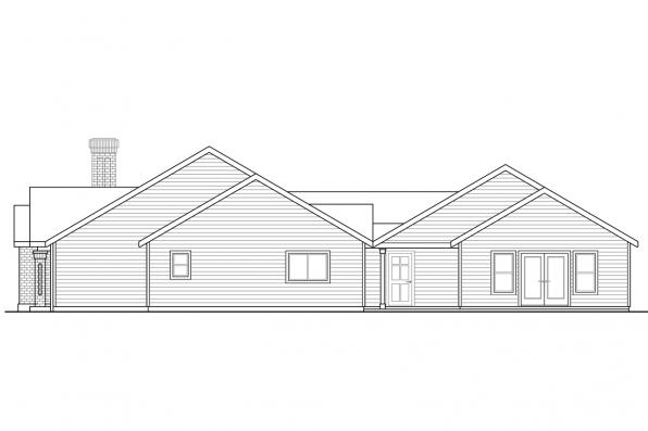 European House Plan - Darrington 30-941 - Right Elevation