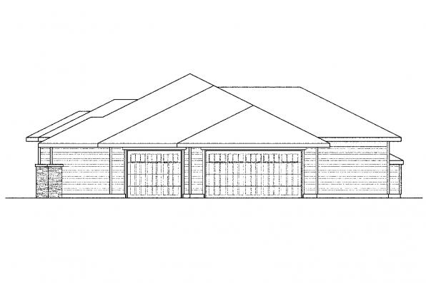 European House Plan - Fall Creek 30-755 - Right Elevation