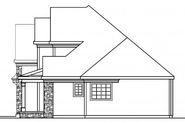 European House Plan - Fitzgerald 30-492 - Right Elevation