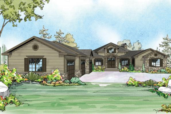 European House Plan - Hillview 11-138 - Front Elevation