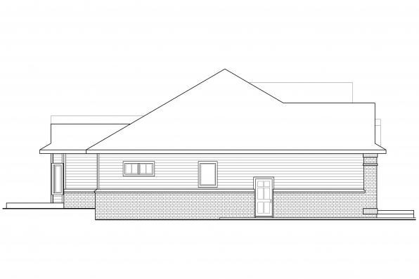 European House Plan - Stansbury 30-500 - Left Elevation