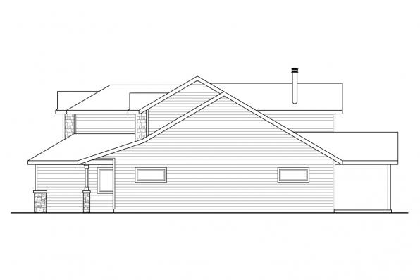 Craftsman House Plan - Sprague 31-200 - Right Elevation