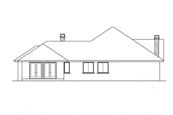 Florida House Plan - Hillcrest 10-557 - Right Elevation