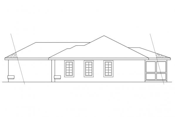 Florida House Plan - Navarro 11-061 - Right Elevation