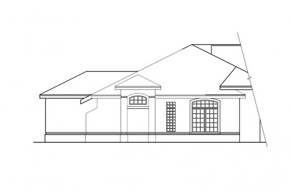 Florida House Plan - Rochester 10-353 - Left Elevation