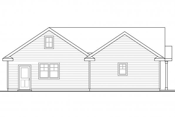 Garage Design 20-116 - Rear Elevation