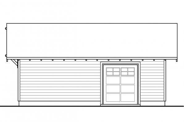 Garage Design 20-140 - Rear Elevation