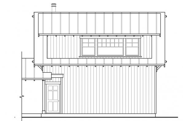 Garage Design 20-189 - Rear Elevation