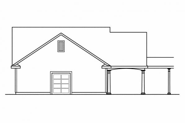 Garage Design 20-075 - Rear Elevation