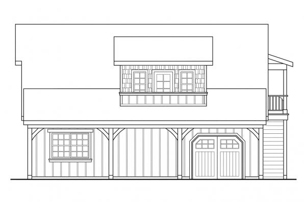 Garage Plan With Apartment 20-020 - Right Elevation