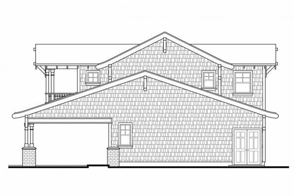 Garage Plan With Apartment 20-052 - Right Elevation