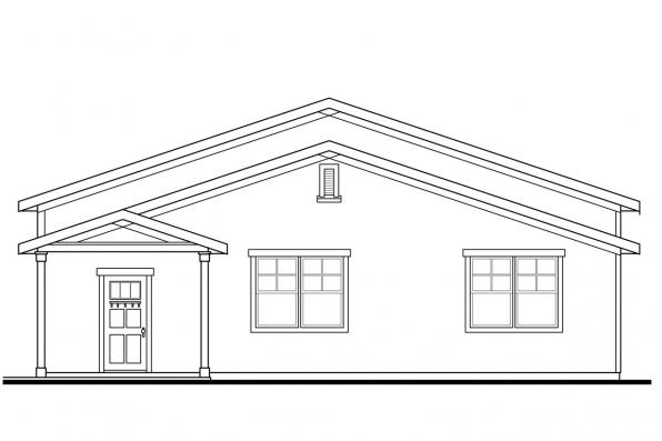 Garage Plan with Shop 20-109 - Right Elevation