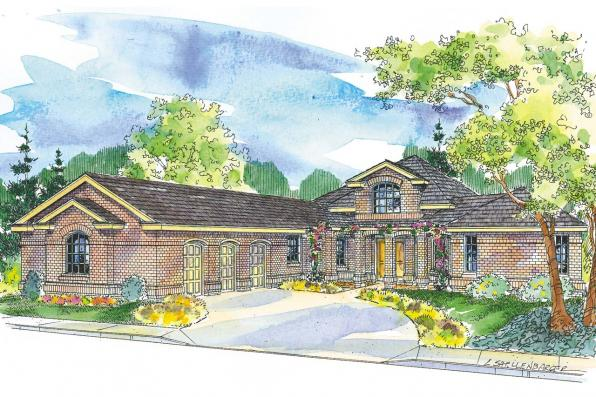 Georgian House Plan - Beckwith 11-128 - Front Elevation