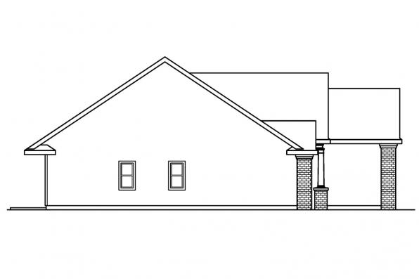 Georgian House Plan - Glenbarr 30-457 - Left Elevation