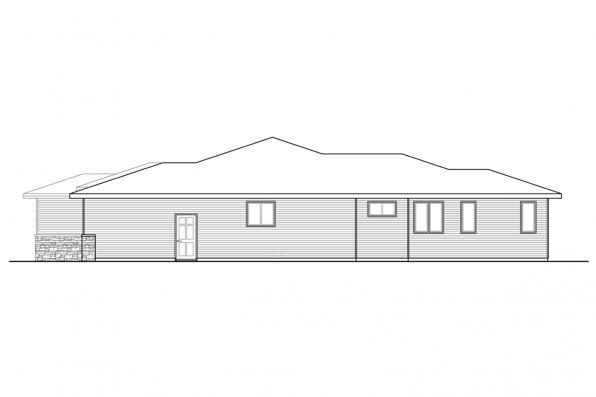 House Plan with Mud Room - Alderwood 31-049 - Right Elevation