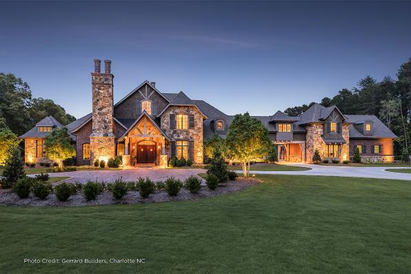 House Plan Photo - Chesterson 30-649 - Front Elevation Night