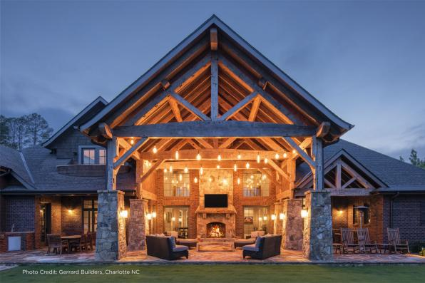 House Plan Photo - Chesterson 30-649 - Covered Patio