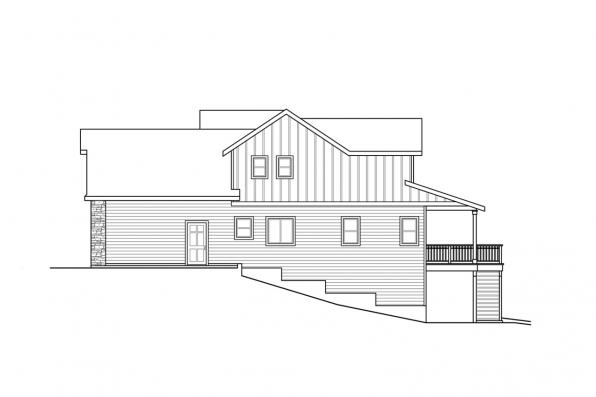 View Lot House Plan - Foxboro 31-153 - Right Elevation
