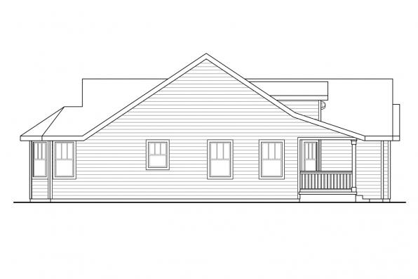 House Plan with Detached Garage - Callahan 30-886 - Left Elevation