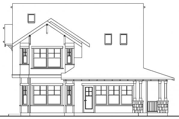 House Plan with Detached Garage - Mapleton 30-506 - Rear Elevation