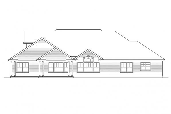 House Plan with Photo - Canyonville 30-775 - Rear Elevation