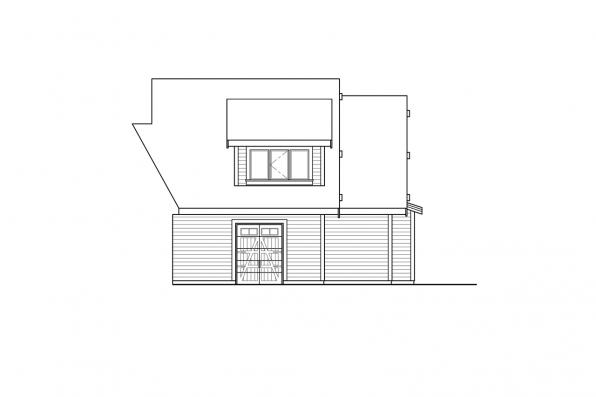 House Plan with Two Master Bedrooms - Cabernet Creek 31-264 - Left Elevation at