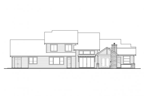 Craftsman Home Plan - Eatonville 31-165 - Rear Elevation