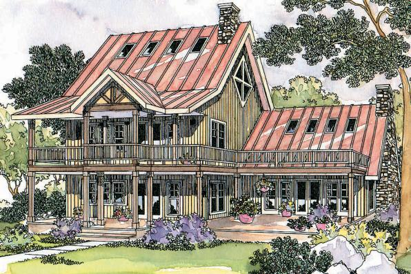 Lodge Style House Plan - Avondale 10-347 - Front Elevation