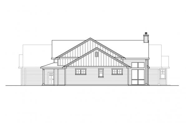 Luxury House Plan - Boulderfield 31-147 - Right Elevation