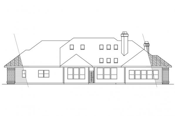 Luxury House Plan - Brentwood 30-007 - Rear Elevation