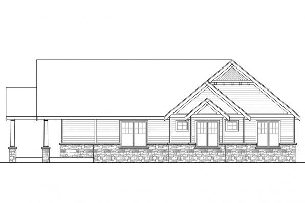 Luxury House Plan - Nottingham 30-965 - Left Elevation