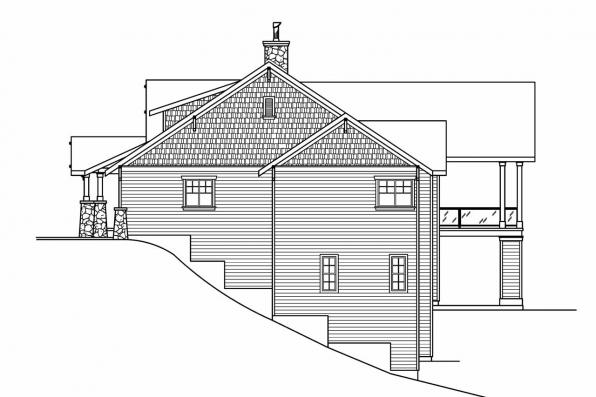 Luxury House Plan - Pacifica 30-683 - Right Elevation
