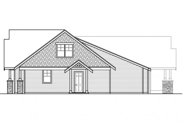 Luxury House Plan - Petaluma 31-011 - Right Elevation