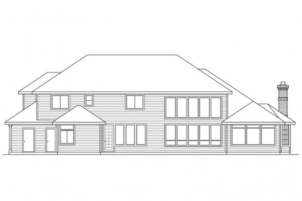 Luxury House Plan - Stirling 10-242 - Rear Elevation