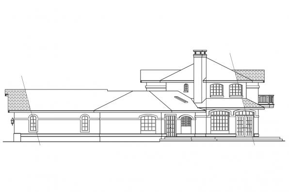 Mediterranean House Plan - Grandeza 10-136 - Right Elevation