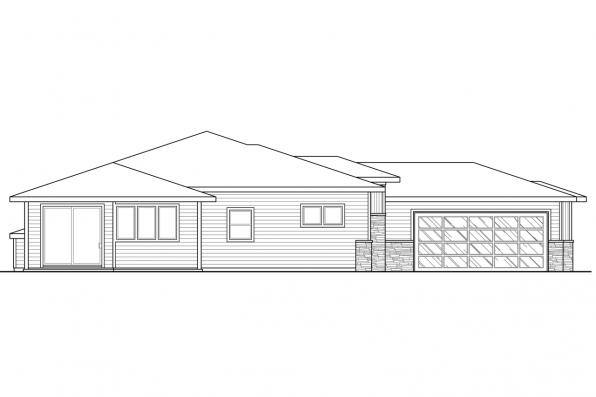 One Story House Plan - Arrowwood 31-051 - Left Elevation