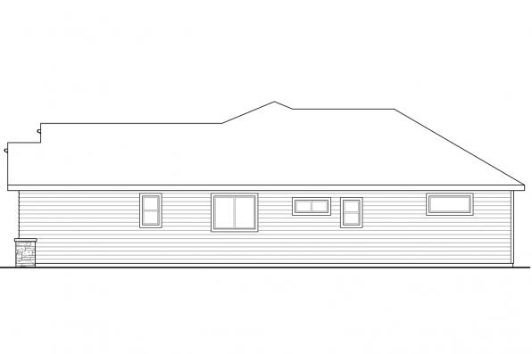 One Story House Plan - Flagstone 31-059 - Right Elevation