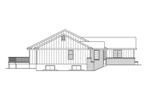1 Story House Plan - Hatford 10-632 - Right Elevation