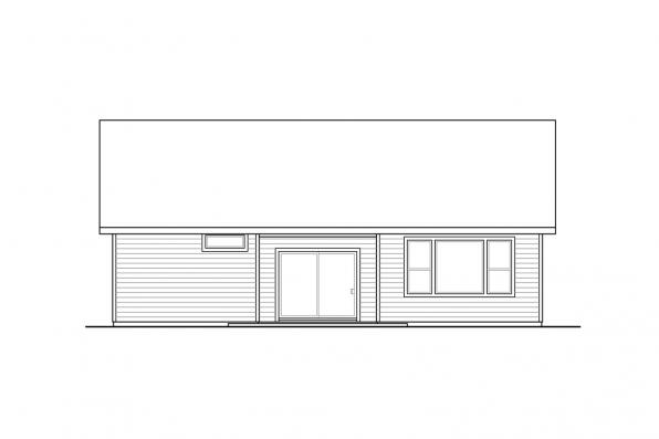 One Story House Plan - Meadowlark 31-164 - Rear Elevation