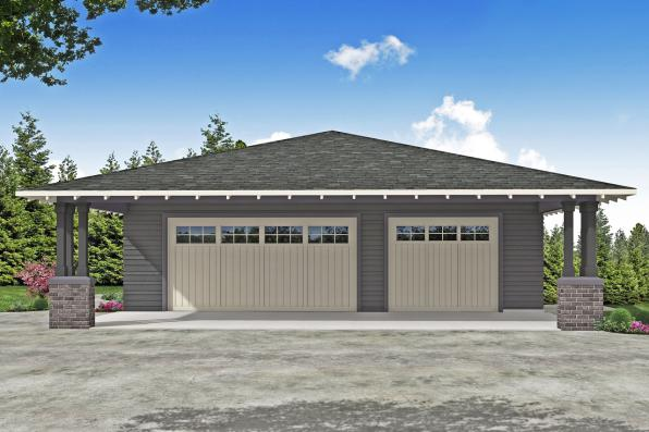 Prairie Garage Plan - Garage 20-309 - Front Elevation