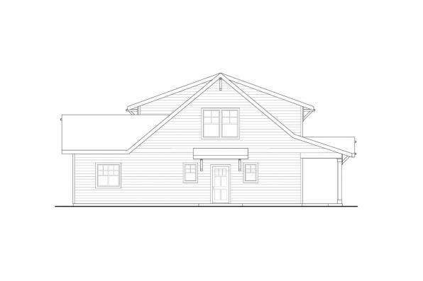 Prairie House Plan - Primrose 30-826 - Left Elevation