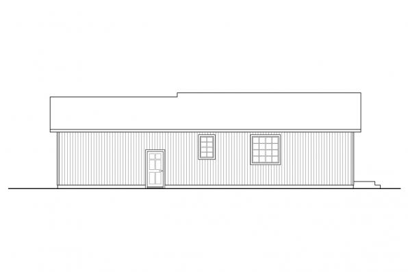 Ranch House Plan - Culver 31-152 - Rear Elevation