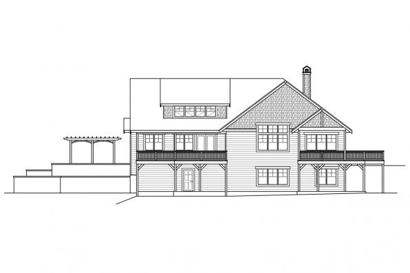 Ranch House Plan - Estes Park 31-146 - Rear Elevation